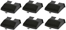 "6 x DRAIN TIDY DRAIN COVER BLACK PLASTIC OUTDOOR LEAF GUARD GUTTER 12"" X 12"""