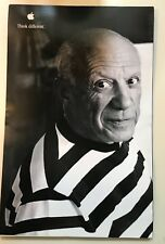 Brand New 1998 Original Apple Think Different Poster Pablo Picasso Size 11 x 17
