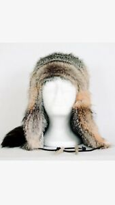 Custom Made Sierra Style REAL Grey Fox Fur With tail and Legs NICE HAT