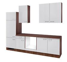 Küchenblock ohne Elektrogeräte Küchenzeile Einbauküche 270 cm hochglanz weiß