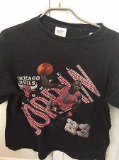 Michael Jordan 23 Chicago Bulls Vintage T Shirt XL Used Rare NBA Action Shot