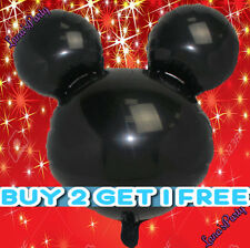 BLACK Minnie Mickey Mouse Head Birthday Party Balloon Disney baby shower boy