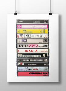 INXS Poster: Cassette Print, INXS Albums, Fan, Gift, Art