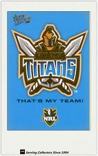 2006 Select NRL Invincible Trading Cards Case Card--Titans Logo 1st Titan card