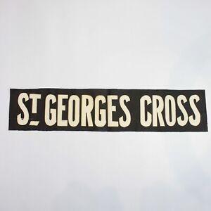 St Georges Cross Tram bus blind destination linen vintage original Glasgow