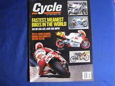 CYCLE MAGAZINE-AUG 1989-KAW VOYAGER-VIRAGO 1100-BIMOTA VS FZR1000-BMW-VINTAGE MX
