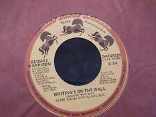 45N GEORGE HARRISON ALL THOSE YEARS AGO /WRITINGS ON THE WALL ON DARK HORSE REC.