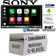 Sony Radio für Mercedes C-Klasse W203 Bluetooth DAB+ CarPlay Android Auto USB