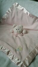 The Bearington Collection Pink Teddy Bear Security Blankey Lovey ABC Rattle 19""