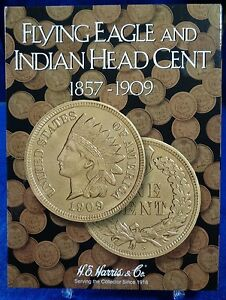 HE Harris Flying Eagle Indian Head Cent 1857-1909 Coin Folder, Album Book#2671