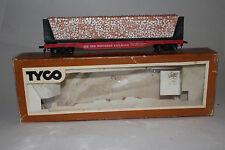 TYCO HO SCALE SOUTHERN RAILROAD, 50 FOOT FLATCAR W/ PULPWOOD LOAD, BOXED