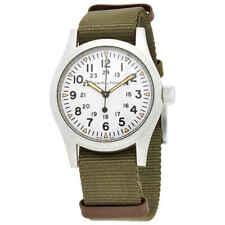 Hamilton Khaki Field Mechanical White Dial Men's Watch H69439411