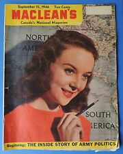 Vintage Maclean's Canada National Magazine Sept.15 1946