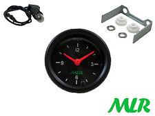 52 mm Auto Clock GAUGE Black Face classico KIT AUTO MLR. ARRIV