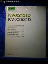 Sony Bedienungsanleitung KV X2131D /X2531D Color TV (#2001)