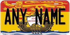 New Brunswick Flag Canada Any Name Aluminum Novelty Car License Plate