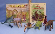 Childrens Dinosaur Book Larami Hard & Soft  Plastic Dinosaur Toys  Lot of 8