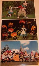 Disney World Postcards--Snow white & Alice--1970's  (3)