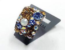 Bnwt PILGRIM Gold Swarovski Crystals Women OPAL Adjustable Ring + GIFT BOX