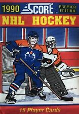 1 NHL HOCKEY SCORE PREMIER EDITION 1990 PACK OF 15 NHL PLAYER CARDS