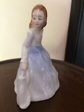 Royal Doulton figurine 'Andrea' with cat HN3058