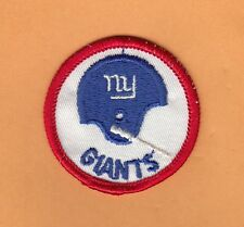 VINTAGE 1960s NY GIANTS 1BAR HELMET OLD LOGO 2 inch PATCH UNSOLD STOCK