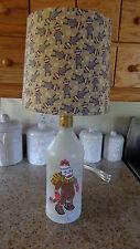 Folk Art Table/Desk Lamp (Hand-Painted Sock Monkey  &  Sock Monkey Shade)