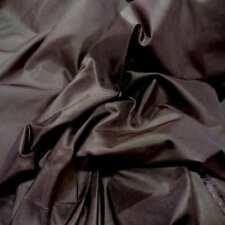 tissu taffetas de soie 100% marron