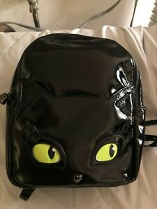 BETSEY JOHNSON KITSCH MEOW IN THE DARK BACKPACK NWT