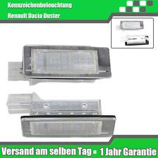 LED Kennzeichenbeleuchtung + E-Prüfzeichen Renault Clio Grandtour Dacia Duster D