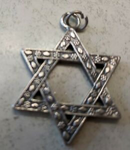 old Jewish star pendant, 1 inch