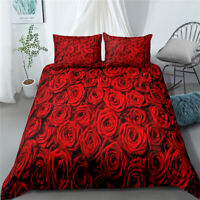 3D Red Rose Romantic & Ardour Bedding Set Duvet Cover Comforter Cover PillowCase