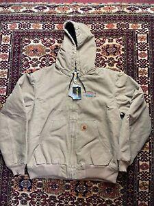 Vtg Carhartt Full Zip Work Jacket Size L Workwear Sportex Safety