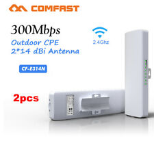 2x COMFAST CF-314N WiFi Wireless Outdoor CPE 300Mbps 2.4Ghz AP Bridge Repeater