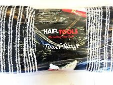 Hair Tools Hairdressing Towel Black and White Humbug pack of 12