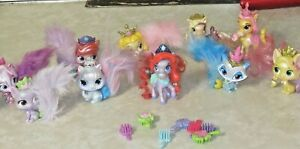DISNEY PRINCESS PALACE PETS FURRY TAIL FRIENDS LOT OF11 + 7 BRUSHES