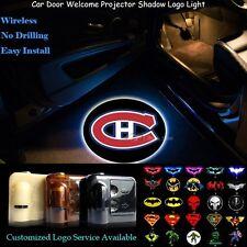 2pcs Montréal Canadiens Logo Wireless Car Door Projector Ghost Shadow LED Lights
