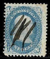 "Sc #63 ""Nice Pen"" Fancy Cancel Franklin 1 Cent 1861-62 Civil War US 1264"