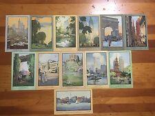 New York City Nyc-Complete Set 12 Rachael Robinson Elmer-Artistic Postcard