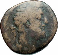 COMMODUS 177AD Sestertius Big Authentic Ancient Roman Coin Felicitas  i79317