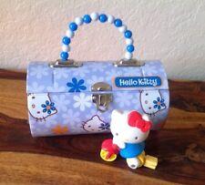 """Sanrio 2007 Tin """"Hello Kitty""""  Lunch Box  7"""" x 4 X 4'"""" Unique w/kitty on bicycle"""