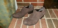KORKS BY KORK EASE BROWN LEATHER ANKLE BOOTIES WOMENS SIZE 9.5/41