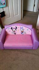Delta Children Disney Minnie Mouse Toddler Kid Upholstered Sofa Chair VGUC