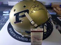 Bob Griese Autographed Full Size Purdue Helmet. College Football HOF. W/COA