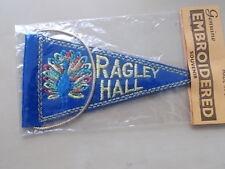 RAGLEY HALL - SMALL EMBROIDERED SOUVENIR PENNANT FLAG - CARAVAN CAR