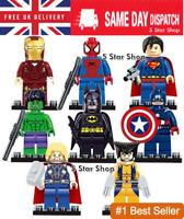 8 Pcs Marvel Avengers Super Hero Comic Mini Figures DC Minifigure Gift Fits Lego