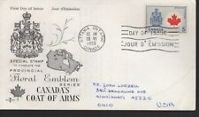 Canada - Coat Of Arms - 429A Fdc - Rose Craft Cachet - 1966