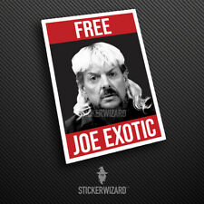 FREE JOE EXOTIC Sticker | Tiger King Carole Baskin Decal | Car | Window