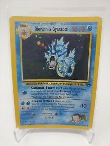 Pokemon Gym Challenge Giovanni's Gyarados Holo 5/132