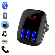 Car Bluetooth Cigar Plug Fm Transmitter Mp3 Player Radio Adapter Usb Charger Hot